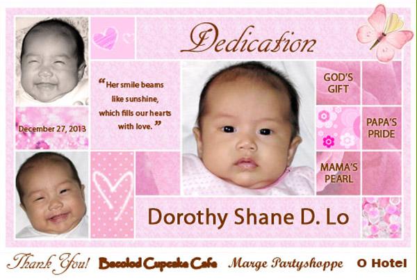 baby christening ideas bacolod - tarpauline backdrop