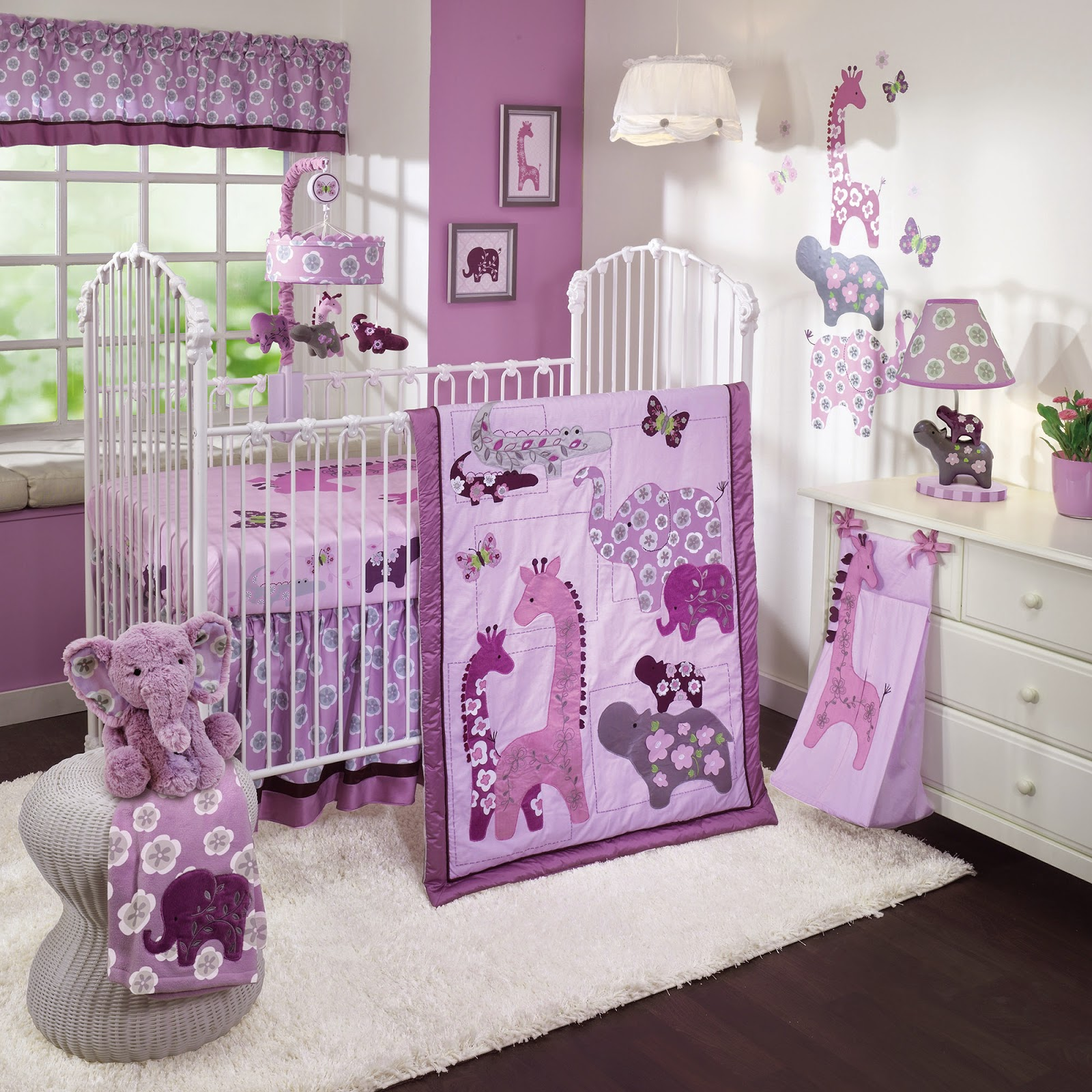 purple nursery bedding