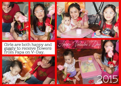 Valentines Day for the kids - Valentines gift for kids - flowers for our daughters