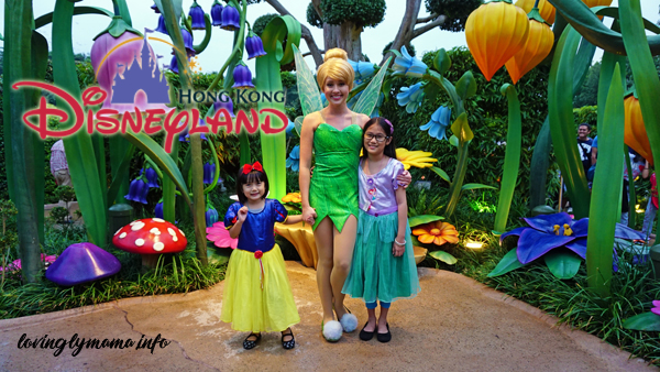 Hong Kong Disneyland - kids with tinkerbell