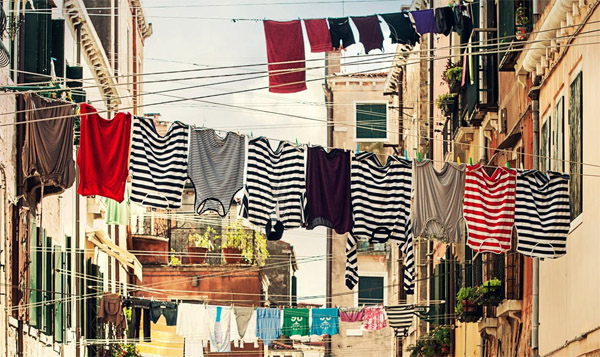 laundry - clothes hanging to dry