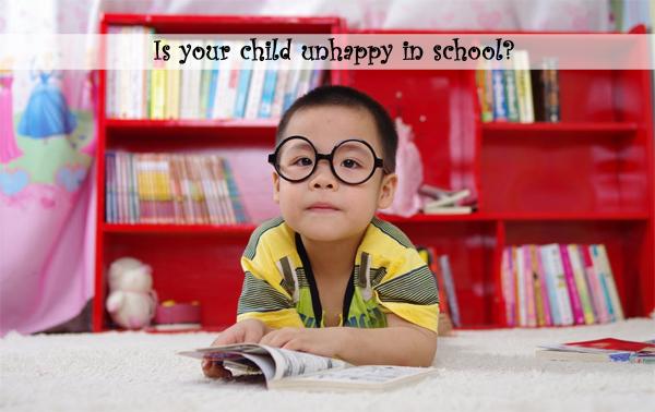 unhappy child - school problems - depression