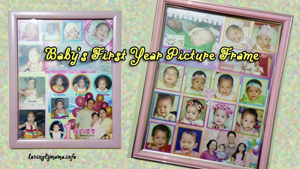 baby's first year picture frame- bedroom wall decor