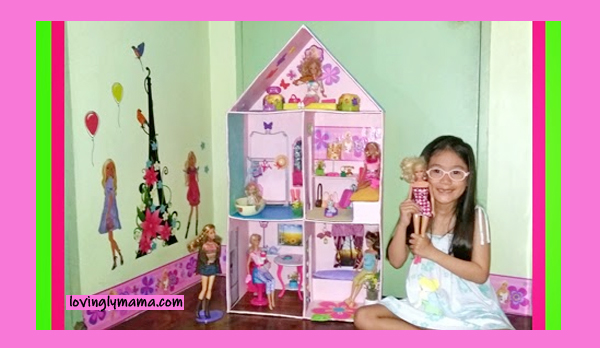 DIY Barbie Dream Doll House - Barbie doll - Barbie doll house - how to make a doll house - homeschooling - summer craft - homeschooling - Bacolod mommy blogger- doll furniture