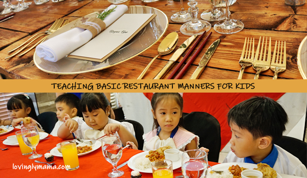 restaurant manners for kids - basic restaurant manners for kids- teaching kids - fine dining for kids - homeschooling in bacolod - fine dining setup - Bright Kids Preschool