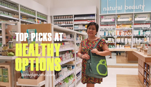 Healthy Options Bacolod - health products - natural supplements - Ayala Malls Capitol Central - Bacolod mommy blogger - top picks