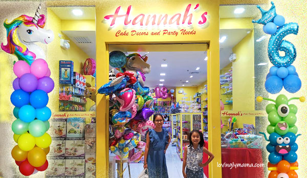 Hannahs Cake Decors and Party Needs - Bacolod party supplies - affordable Bacolod party needs - Bacolod mommy blogger - Bacolod branch - balloon pillars - unicorn balloons - unicorn pillars