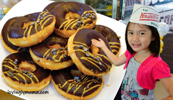 Krispy Kreme Bacolod - Masskara Festival - Bacolod mommy blogger - Dark chocolate glitz - doughnut decorating - Shane point