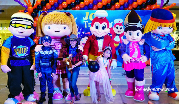 Jollibee Bacolod Halloween Express - Bacolod blogger - Bacolod mommy blogger - kids - daughters - Halloween costumes for kids - cosplay for kids - cowgirl - unicorn princess - Captain America - costumes for kids - scary costumes- pretend play - Ayala Malls Capitol Central - Jollibee and friends