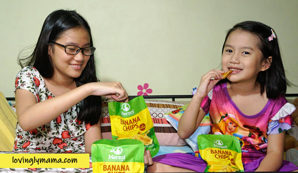 Merzci Banana Chips - Merzci pasalubong - MassKara Festival - Bacolod mommy blogger - girls snacks