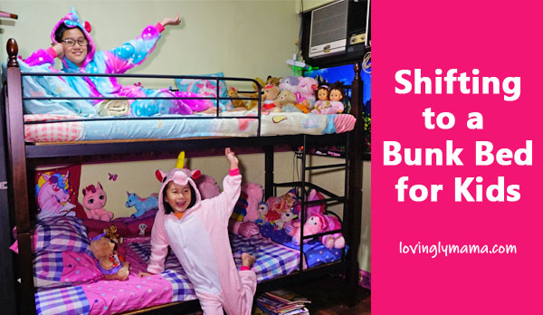 bunk bed for kids - bunk bed for girls - furniture - kids bedroom - Bacolod mommy blogger - unicorn onesies