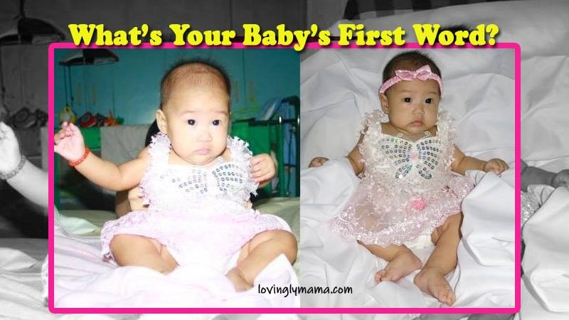 babys first word - baby talk - mama - Bacolod mommy blogger - baby butterfly dress