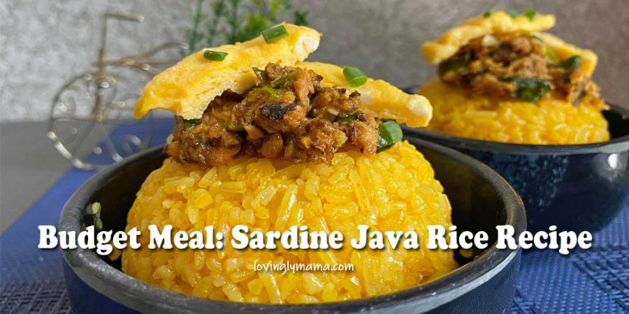 Sardine Java Rice recipe - Pinoy budget meal - sardines in tomato sauce - anato oil - fried rice recipe