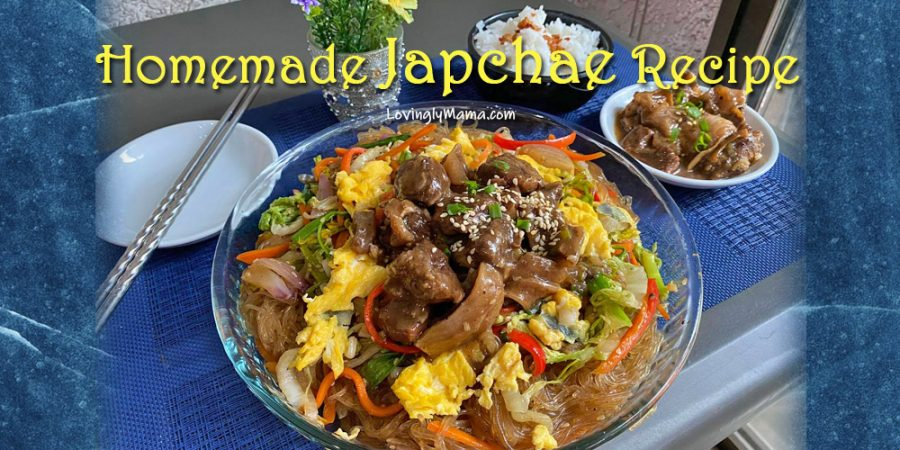 homemade japchae recipe - Korean noodles - K-Drama- Bacolod mommy blogger - homecooking - beef stew - lunch spread