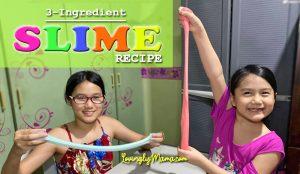 3-ingredient slime - DIY slime recipe - homeschooling - activity for kids - Covid-19 lockdown - stay at home - slime making recipe