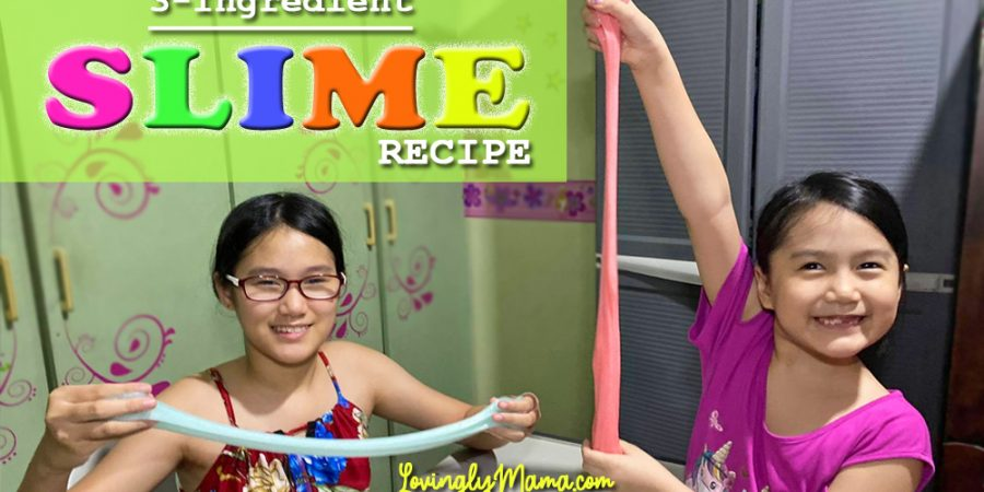 3-ingredient slime - DIY slime recipe - homeschooling - activity for kids - Covid-19 lockdown - stay at home - slime making recipe