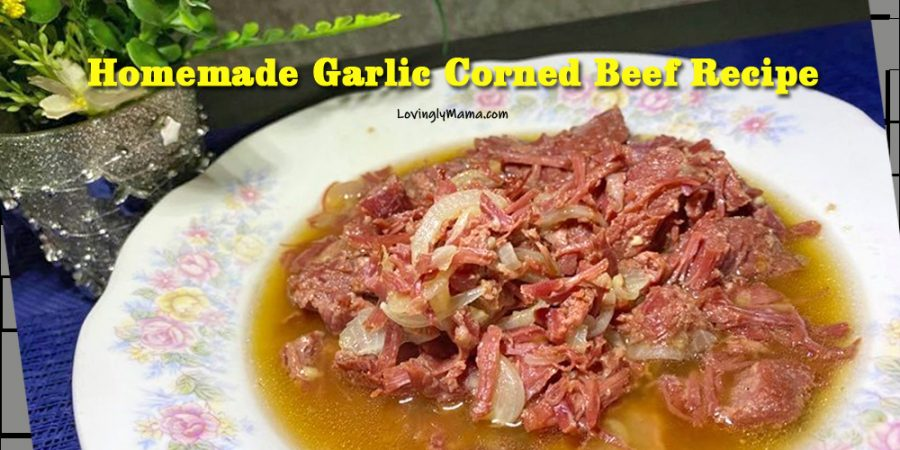 homemade garlic corned beef recipe - homecooking - from my kitchen - cooking tips - pressure cooker - breakfast - sauteed corned beef